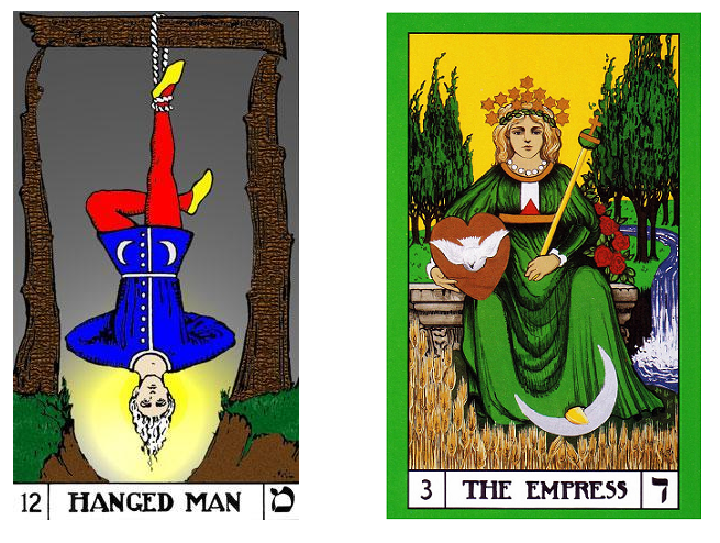 Hanged Man + Empress